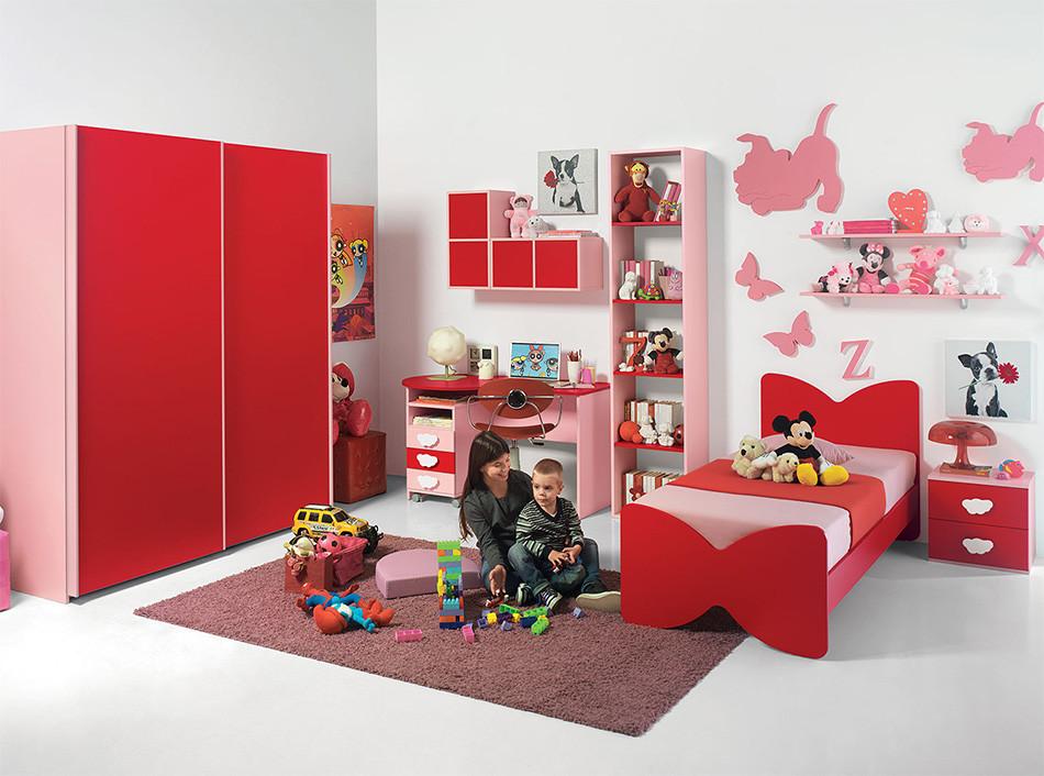 Red bedroom furniture for kids | Hawk Haven