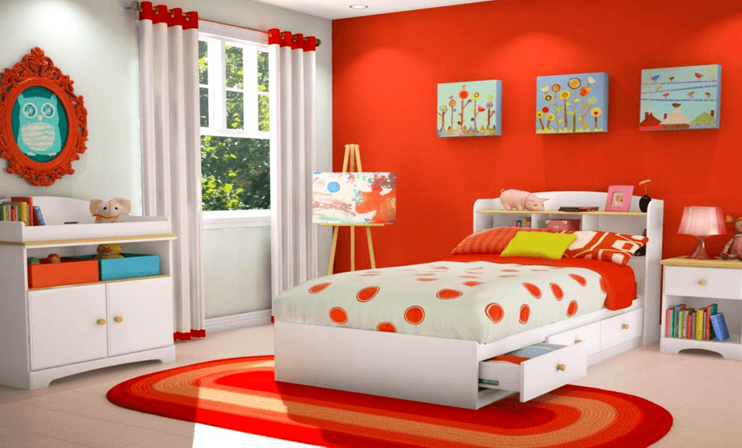 red bedroom furniture for kids photo - 5