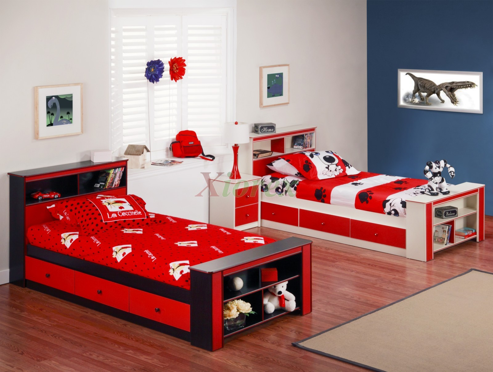 red bedroom furniture for kids photo - 7