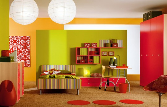 red bedroom furniture for kids photo - 9