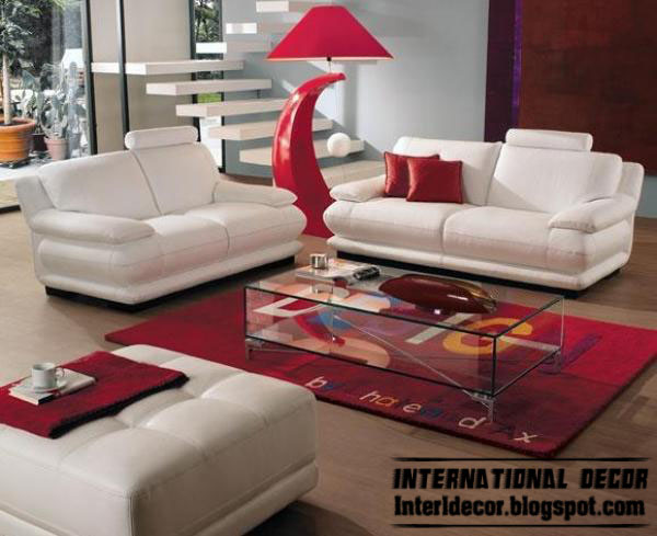 Attirant Red Room With White Furniture Photo   1