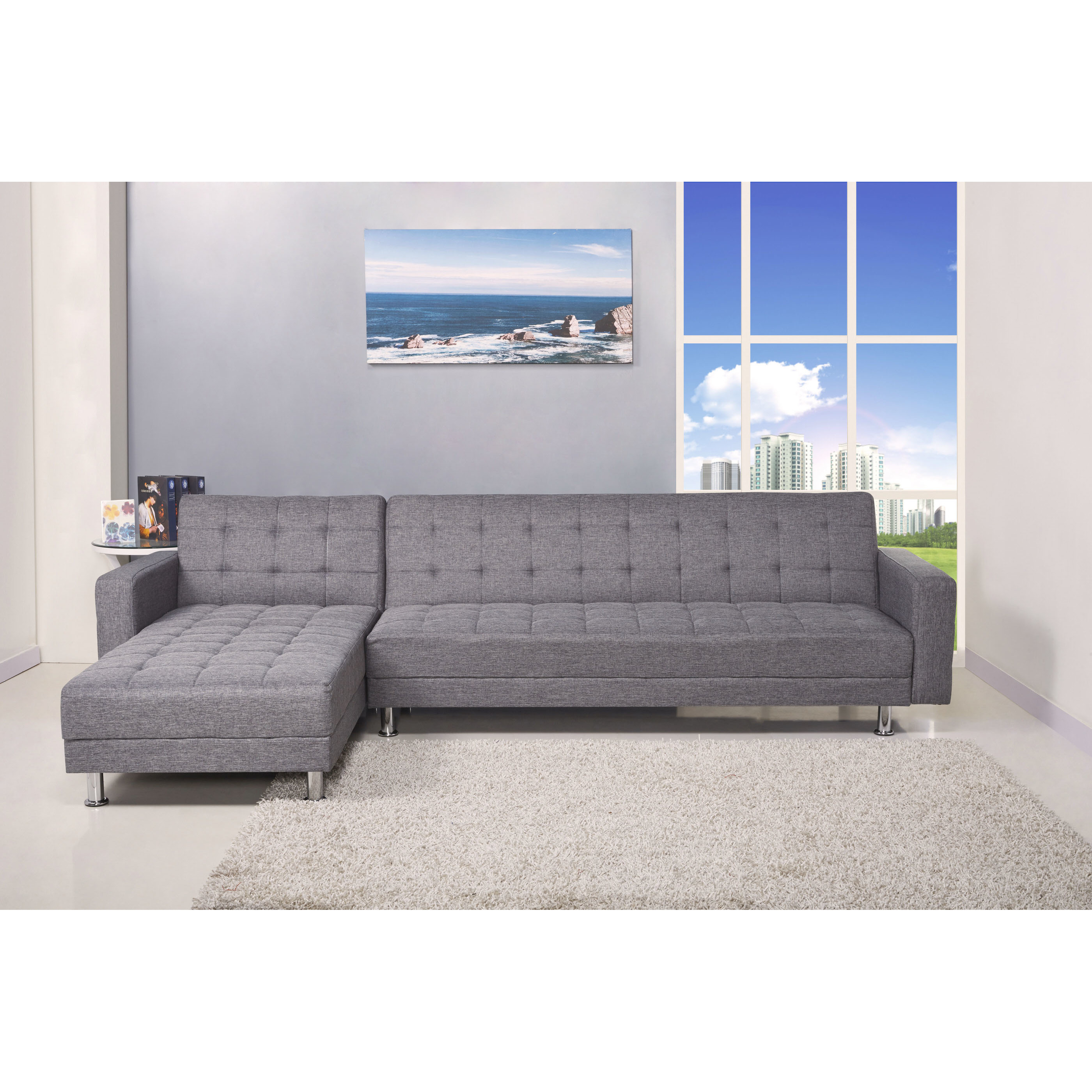 Red sectional sleeper sofa | Hawk Haven