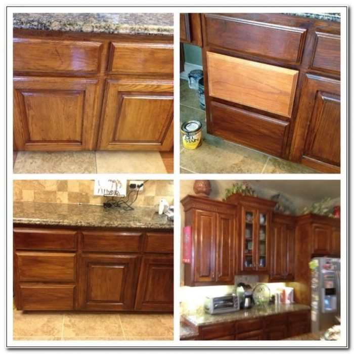refinishing kitchen cabinets gel stain photo - 7