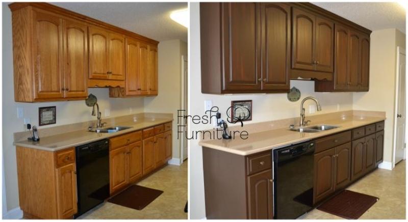 Refinishing kitchen cabinets gel stain   Hawk Haven