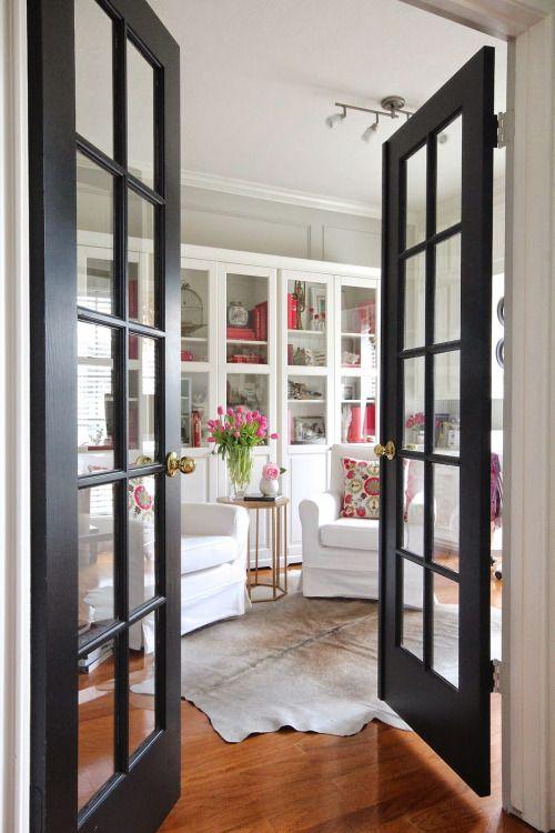 replacing interior french doors photo - 2
