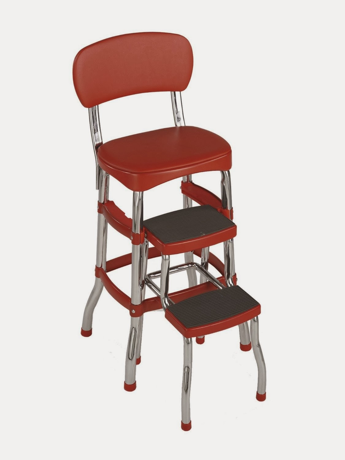 retro kitchen chair with step stool photo - 1