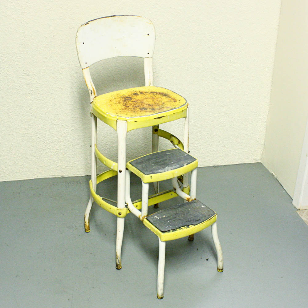 retro kitchen chair with step stool photo - 10