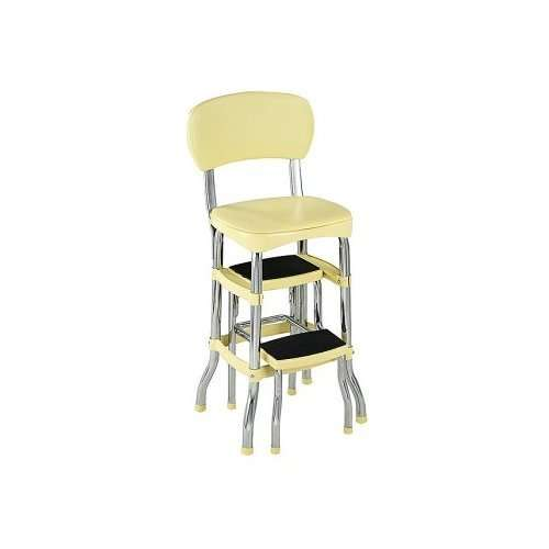 retro kitchen chair with step stool photo - 2
