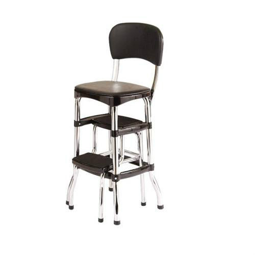 retro kitchen chair with step stool photo - 4