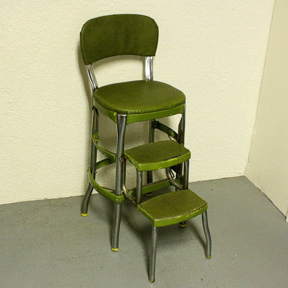 retro kitchen chair with step stool photo - 5