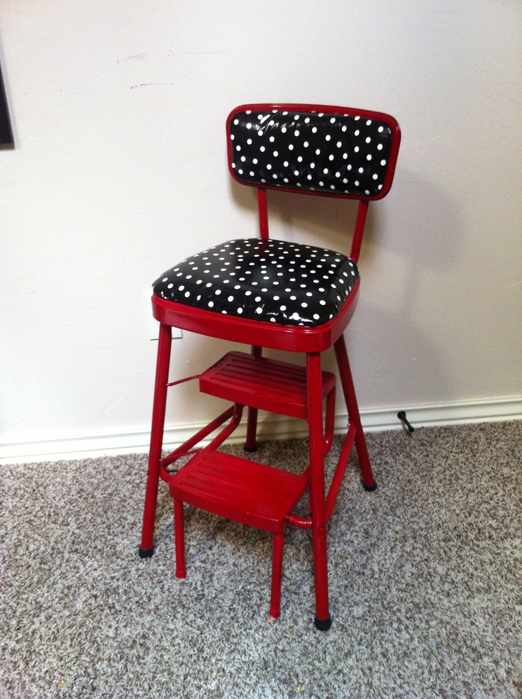 retro kitchen chair with step stool photo - 6