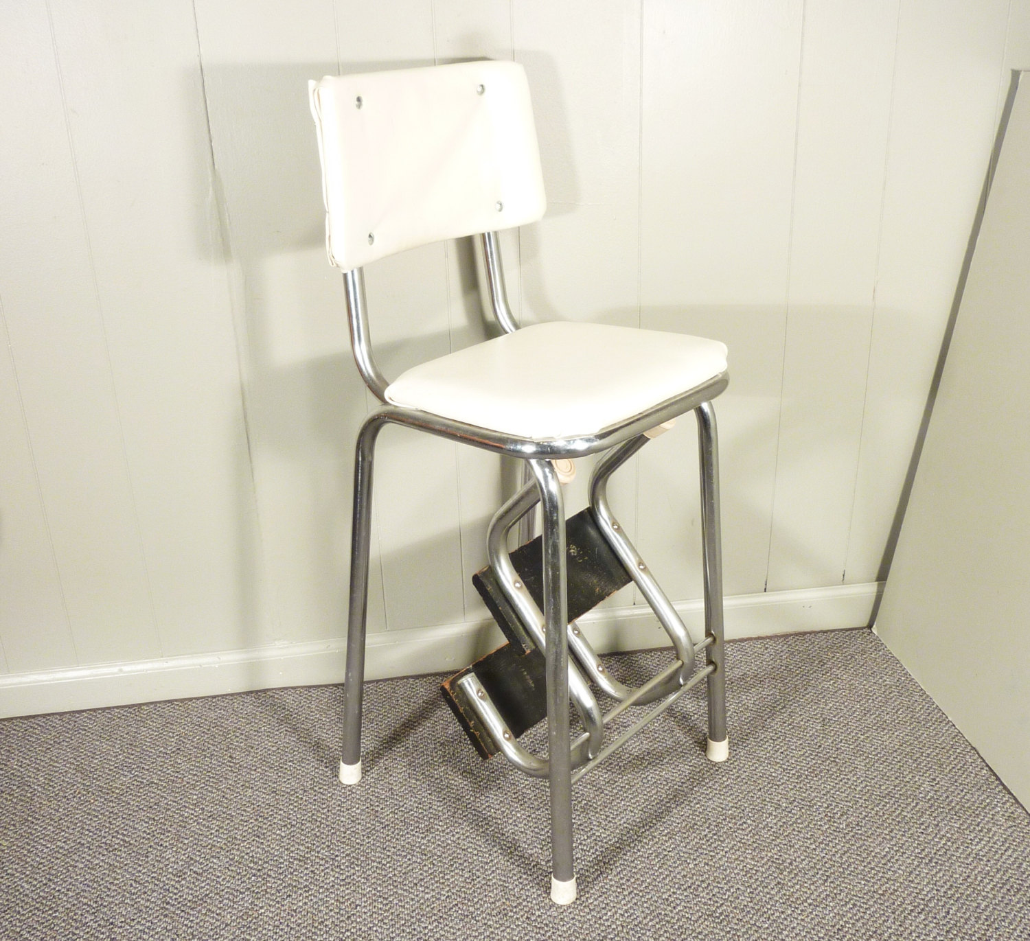retro kitchen chair with step stool photo - 7