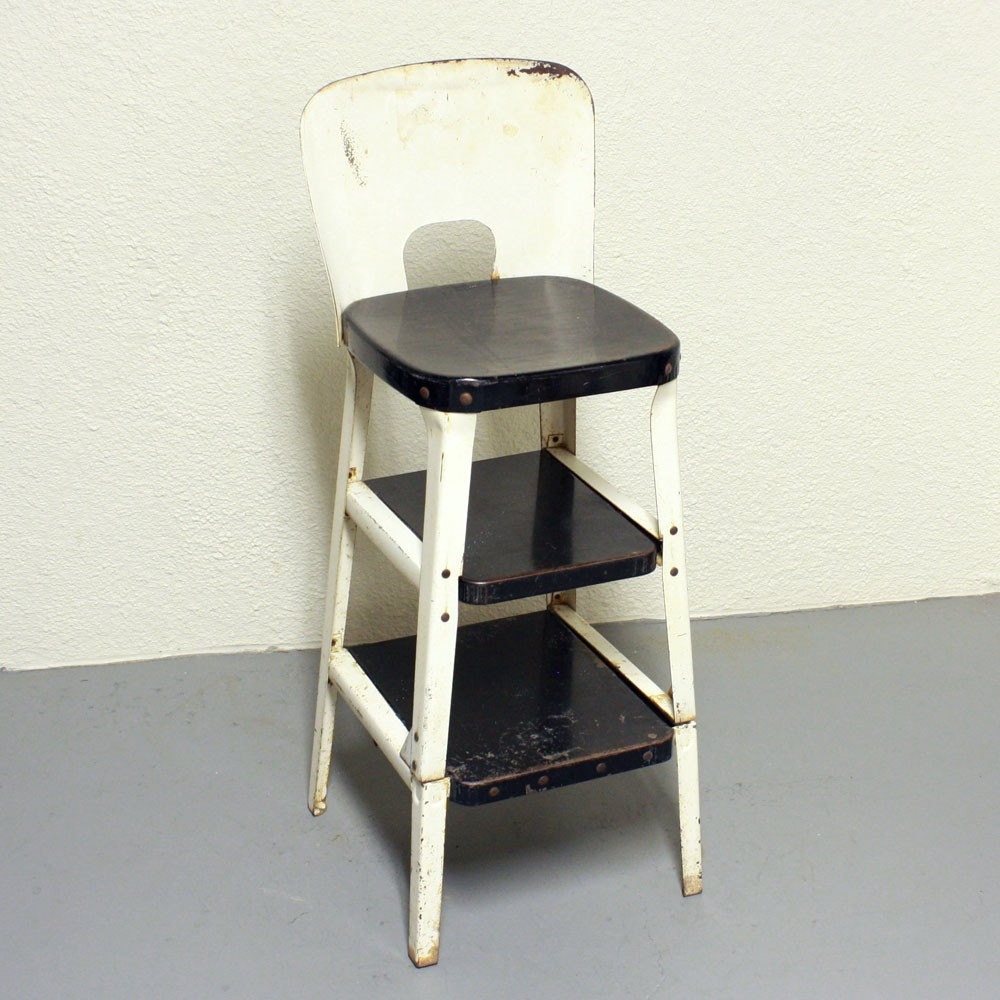 retro kitchen chair with step stool photo - 9