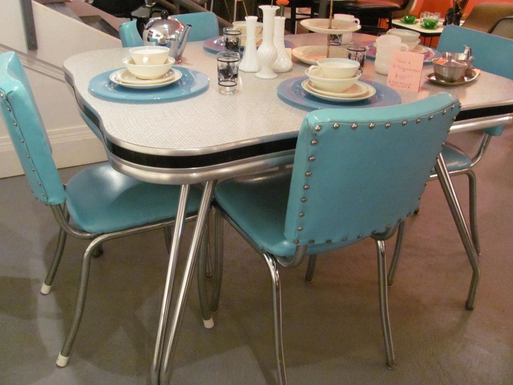 retro kitchen chairs and tables photo - 6