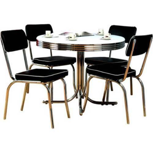 retro kitchen chairs black photo - 2