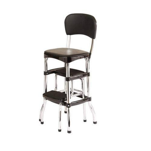 retro kitchen chairs black photo - 3