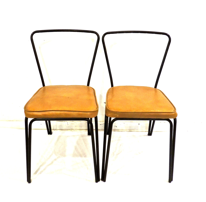 retro kitchen chairs black photo - 4