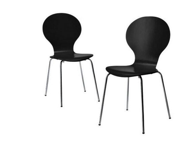 retro kitchen chairs black photo - 5