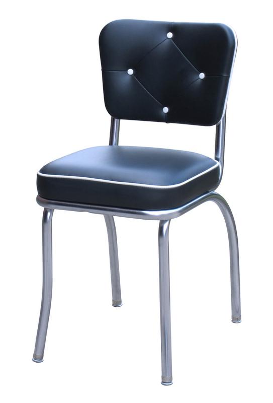 retro kitchen chairs black photo - 6