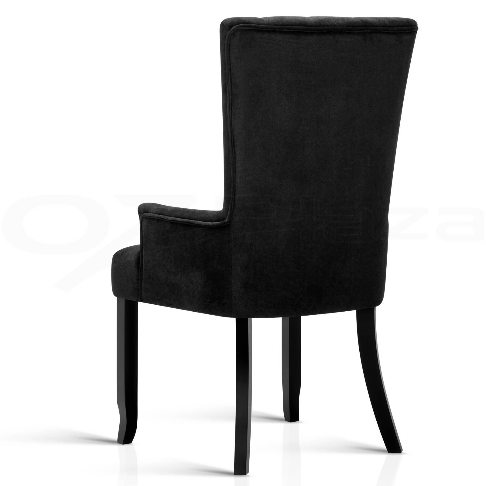 retro kitchen chairs black photo - 8