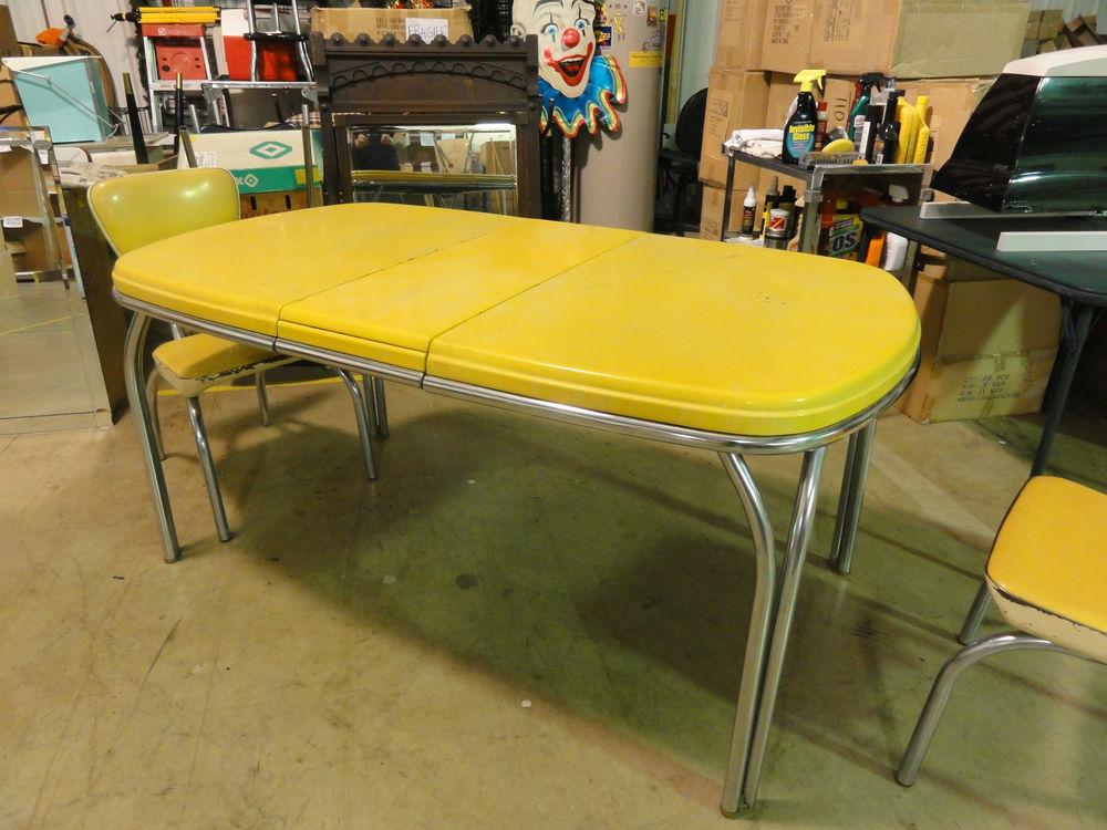 retro kitchen chairs yellow photo - 1