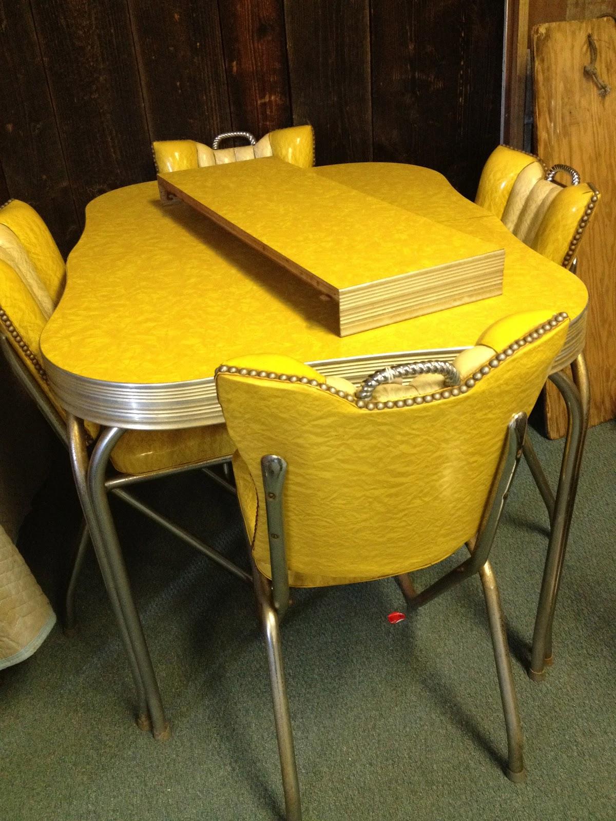 retro kitchen chairs yellow photo - 10