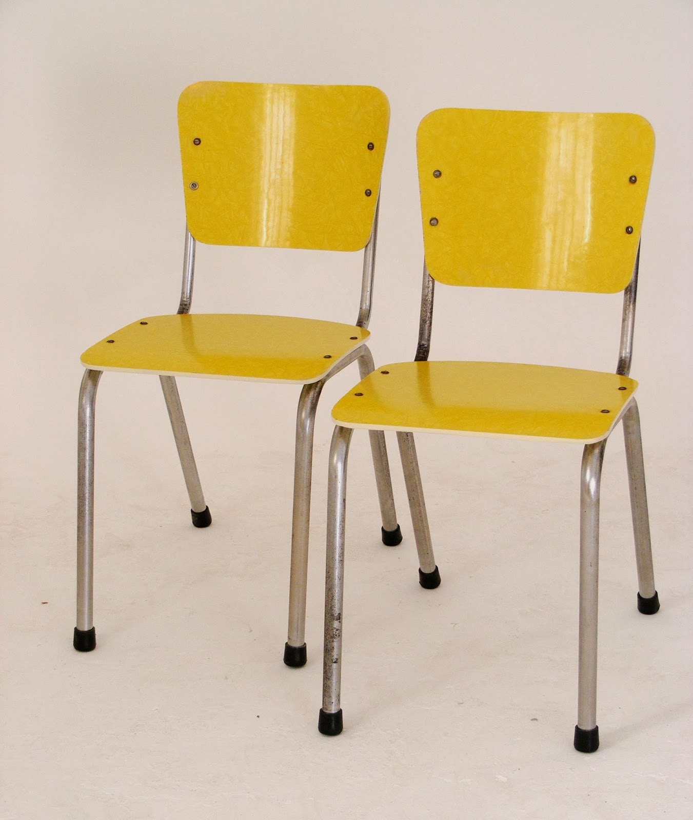 retro kitchen chairs yellow photo - 3