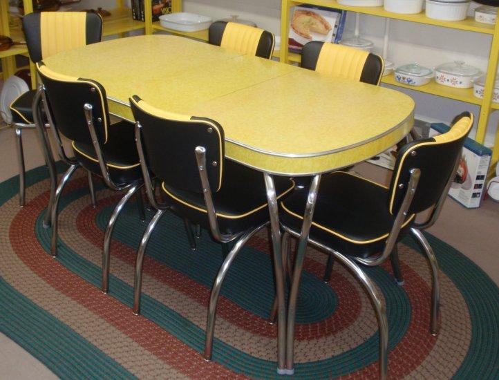 retro kitchen chairs yellow photo - 4