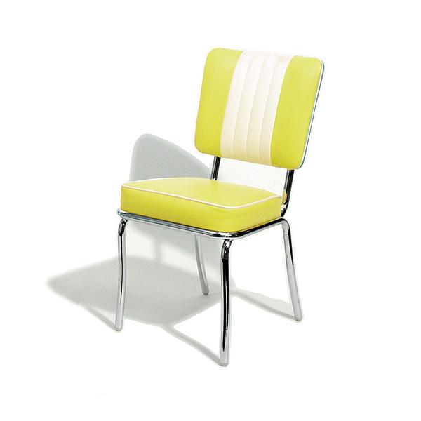 retro kitchen chairs yellow photo - 5