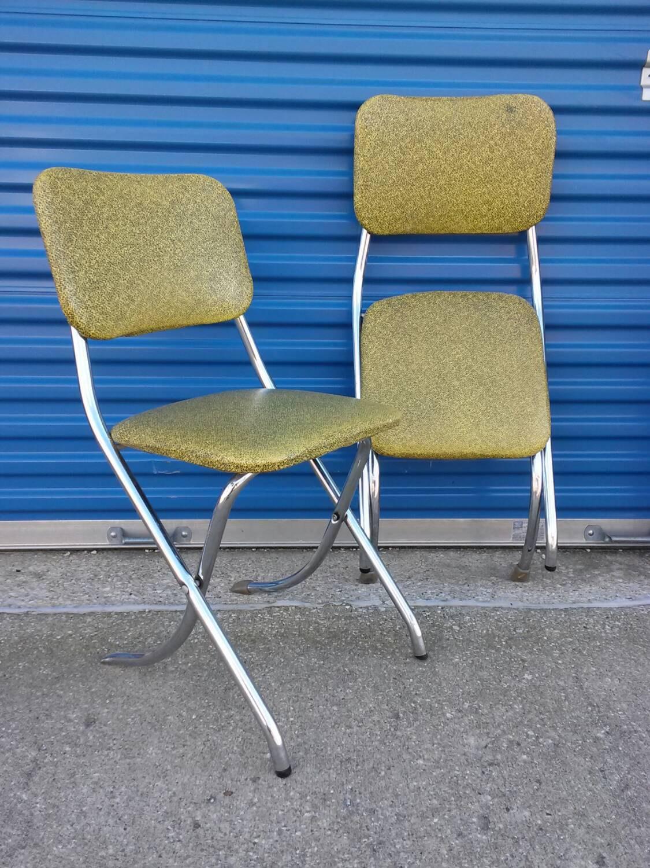 retro kitchen chairs yellow photo - 6