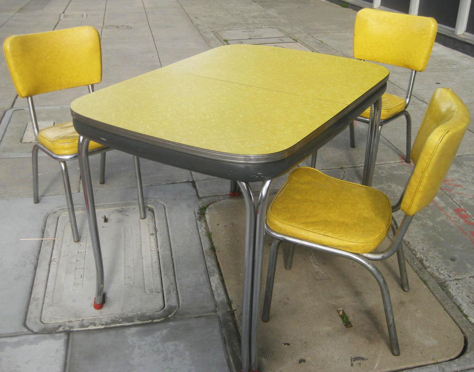 retro kitchen chairs yellow photo - 9