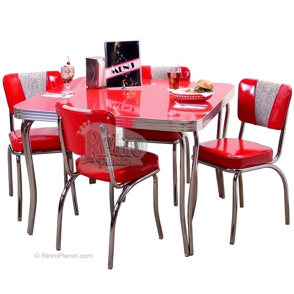 retro kitchen dining sets photo - 2