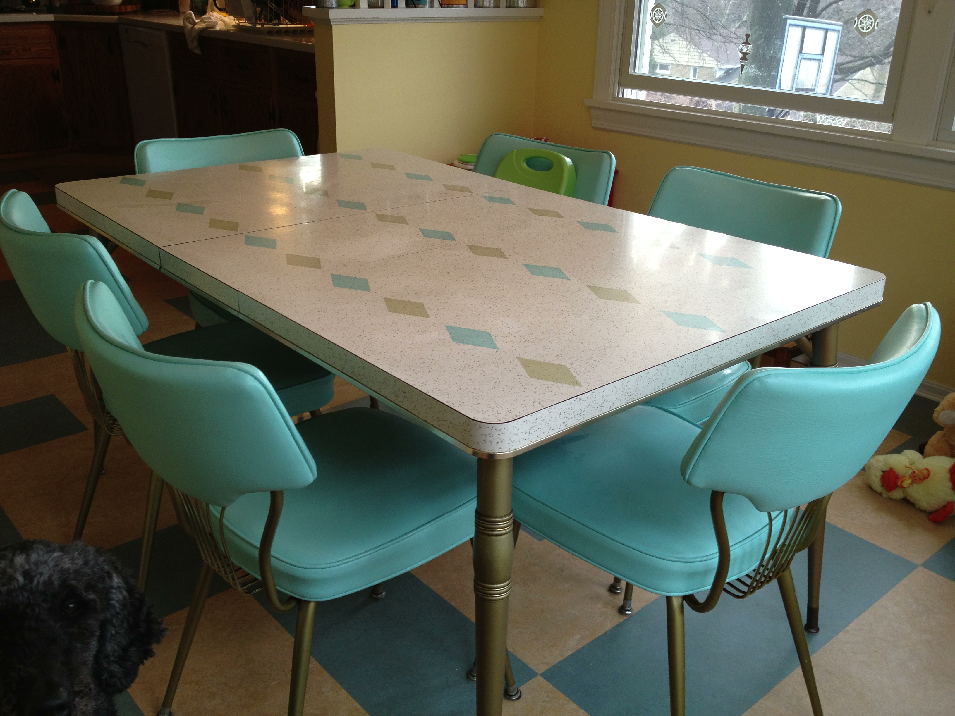 retro kitchen dining sets photo - 4