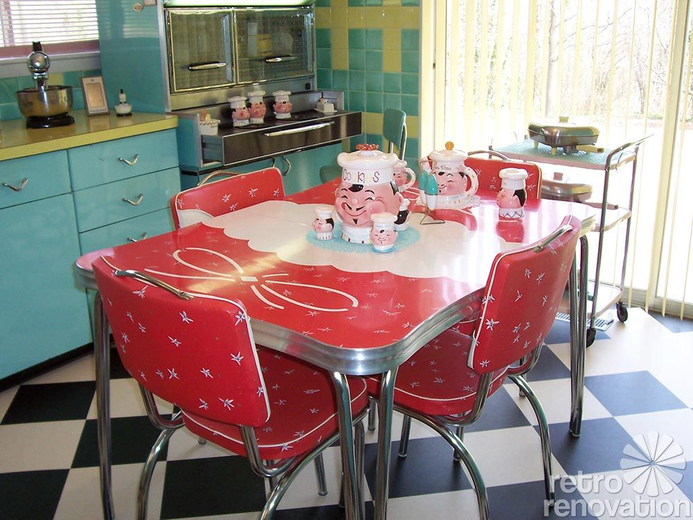 retro kitchen dining sets photo - 7