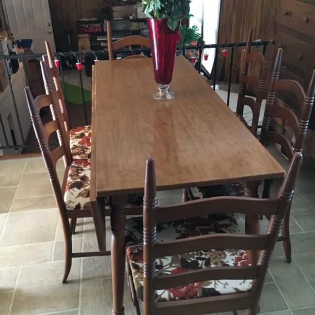 retro kitchen table leaf photo - 8