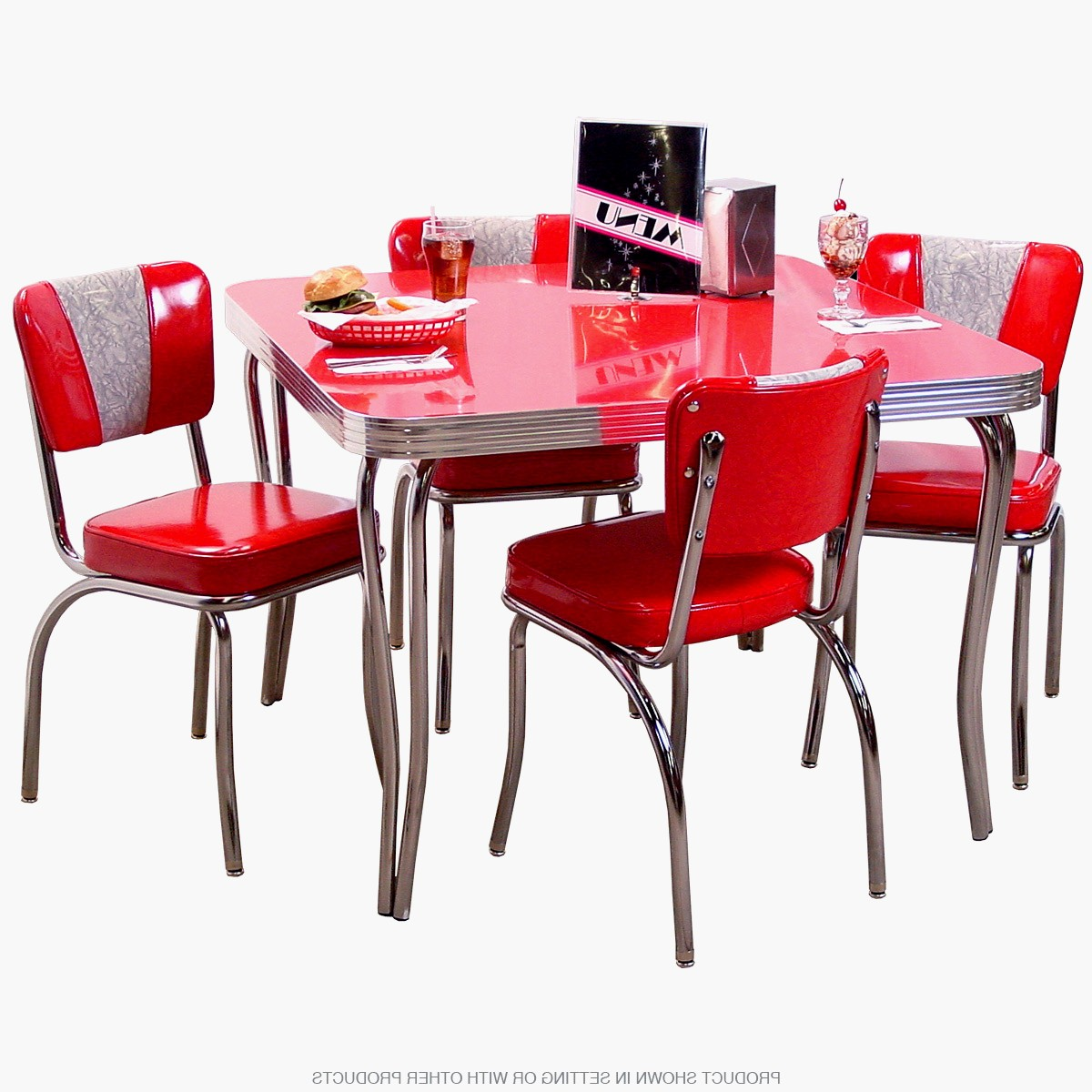 retro red kitchen chairs photo - 3
