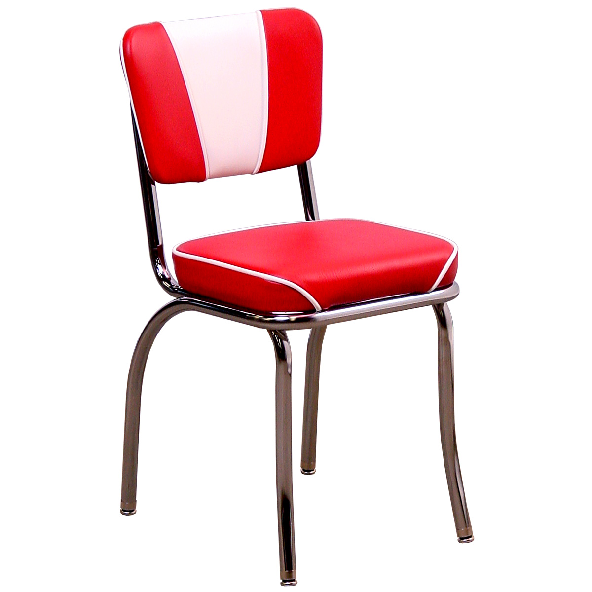 retro red kitchen chairs photo - 4