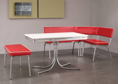 retro red kitchen chairs photo - 7