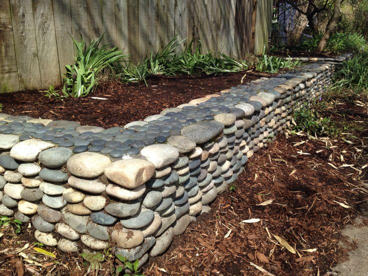 River Rock Garden Edging Photo   7