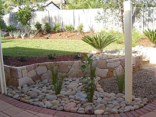 River Rock Garden Edging Ideas