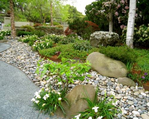 Ordinaire River Rock Garden Edging Ideas Photo   2