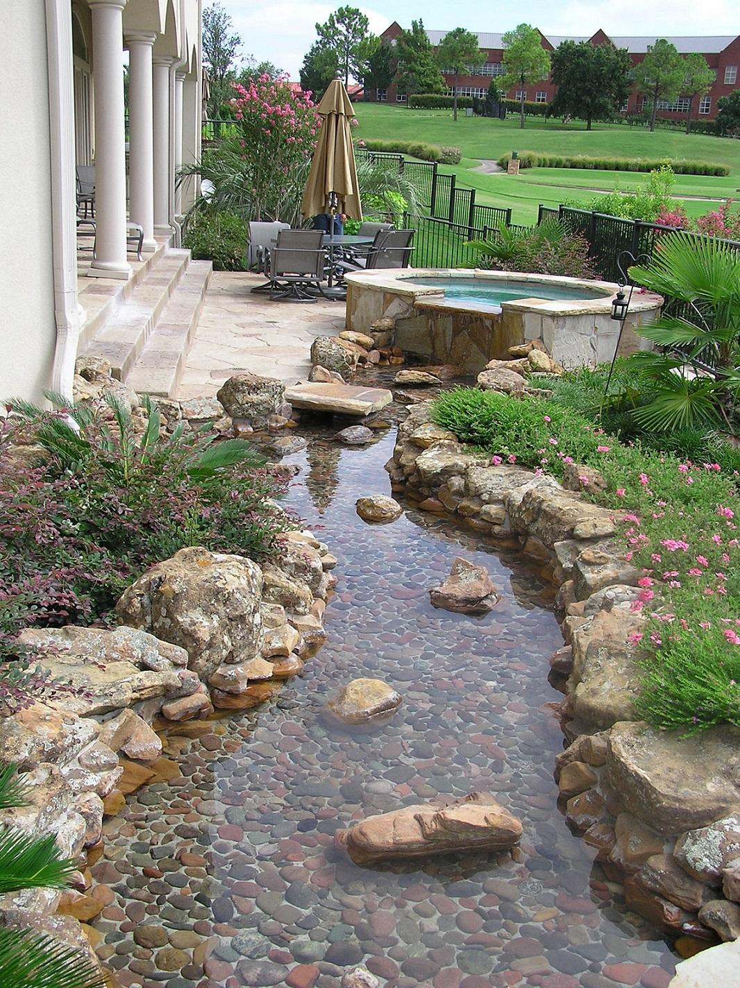 River rock garden ideas   Hawk Haven on Backyard Rock Designs id=79127