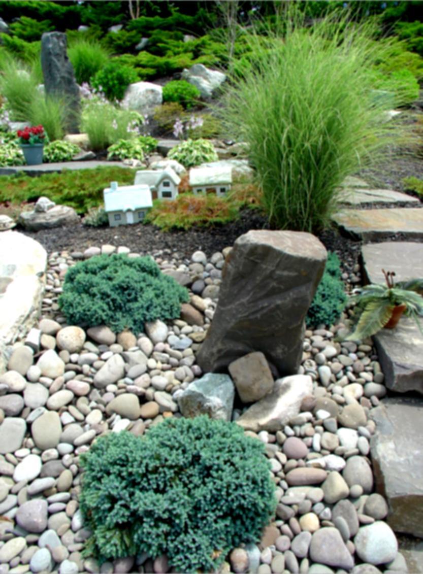 river rock garden ideas photo - 3