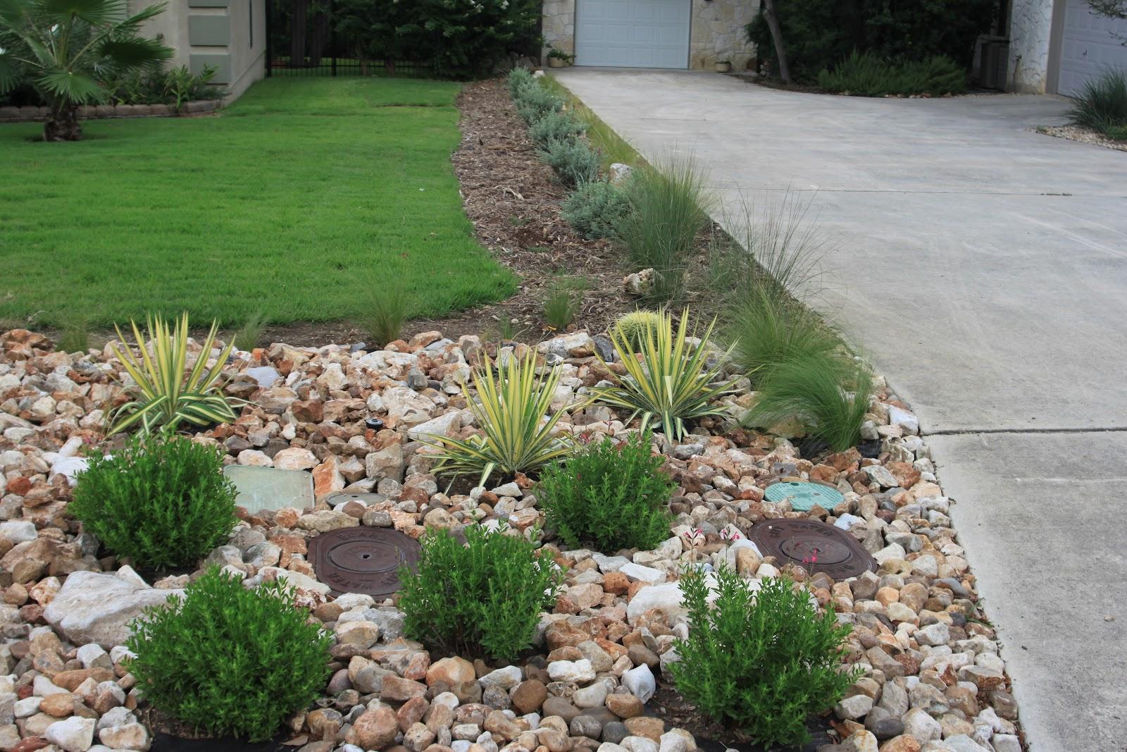 river rock garden ideas photo - 4