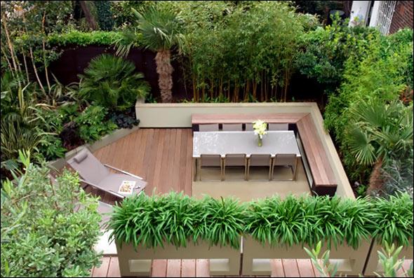 roof terrace garden design photo - 1