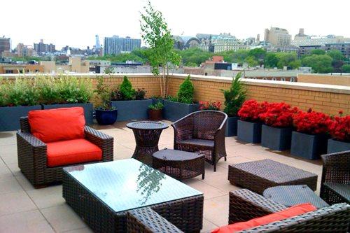 roof terrace garden design photo - 5