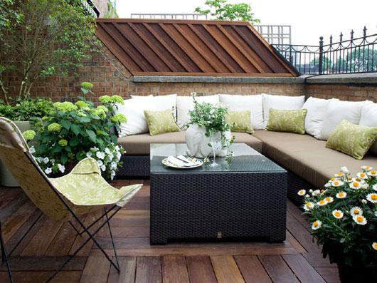 roof terrace garden design photo - 7