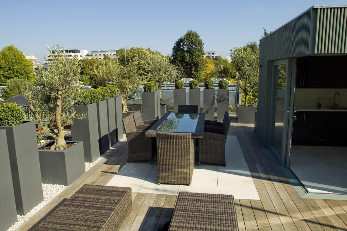 roof terrace garden design photo - 8