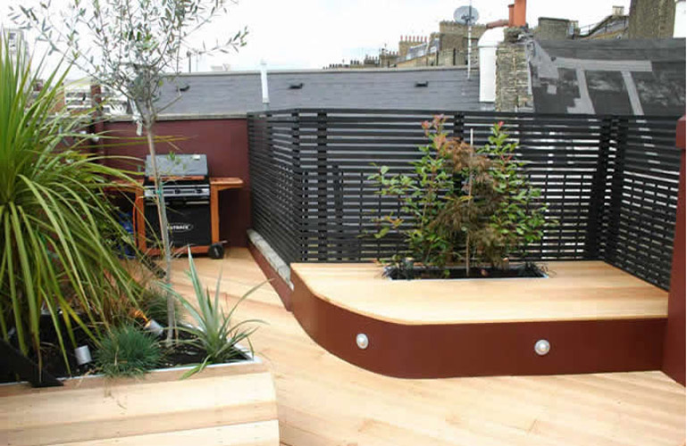 roof terrace garden design photo - 9