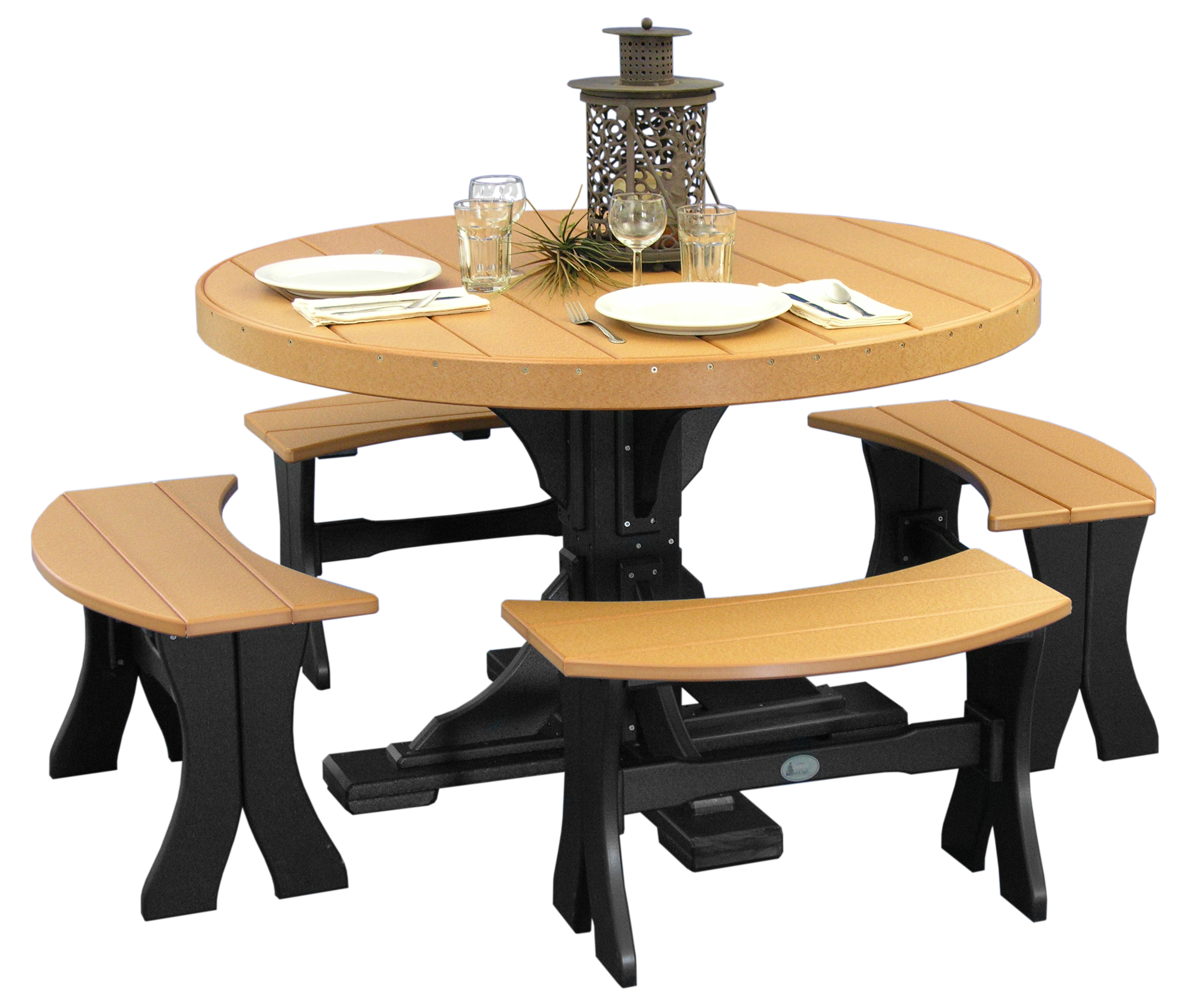 Round Dining Table Bench Hawk Haven